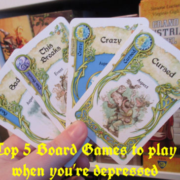 Top 5 board games to play when you're depressed