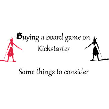 Buying a board game on Kickstarter